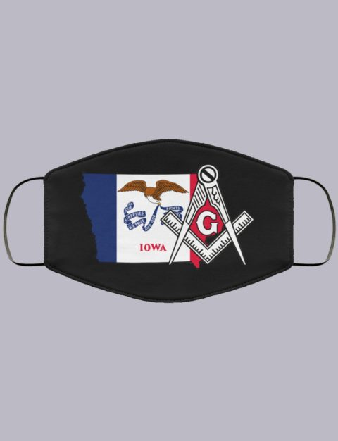 Iowa Masonic Face Mask state994