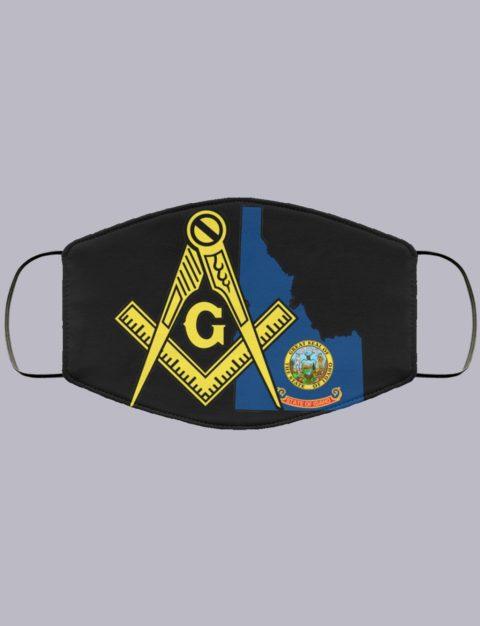 Idaho Masonic Face Mask state995