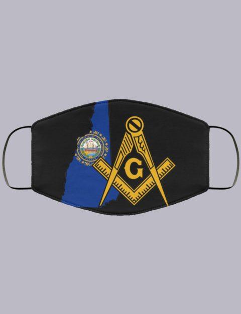 New Hampshire Masonic Face Mask state999