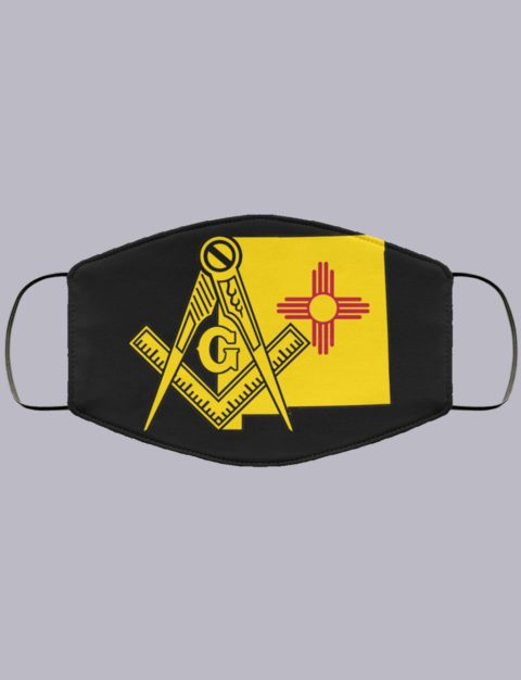 New Mexico Masonic Face Mask state9990