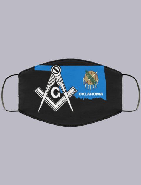 Oklahoma Masonic Face Mask state9992