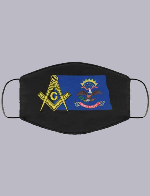 North Dakota Masonic Face Mask state9993