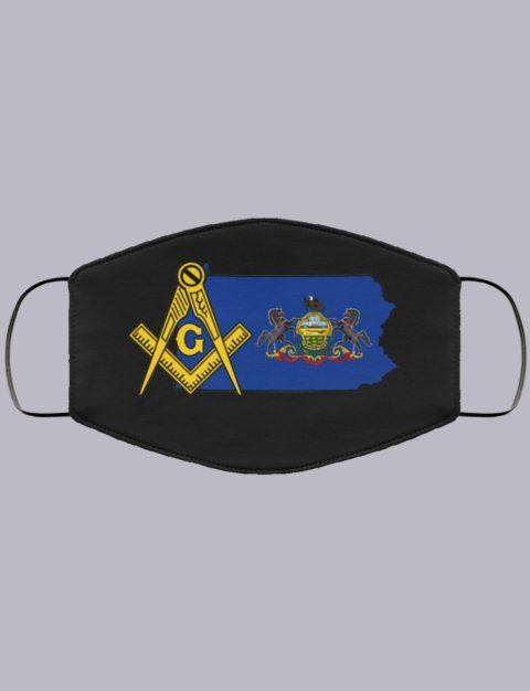 Pennsylvania Masonic Face Mask state9996