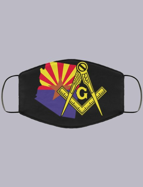 Arizona Masonic Face Mask state99991