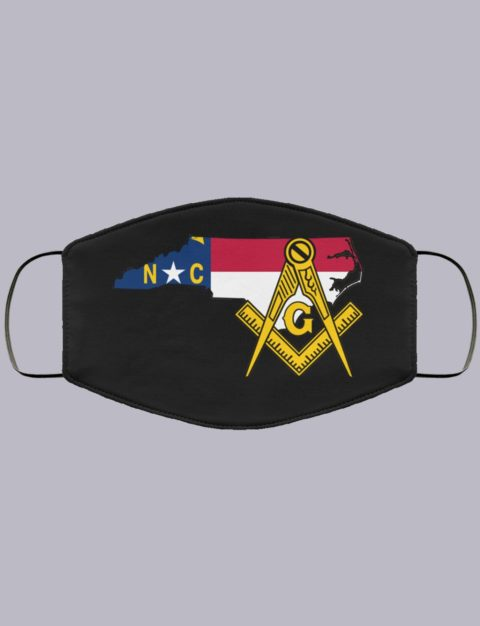 North Carolina Masonic Face Mask state99994