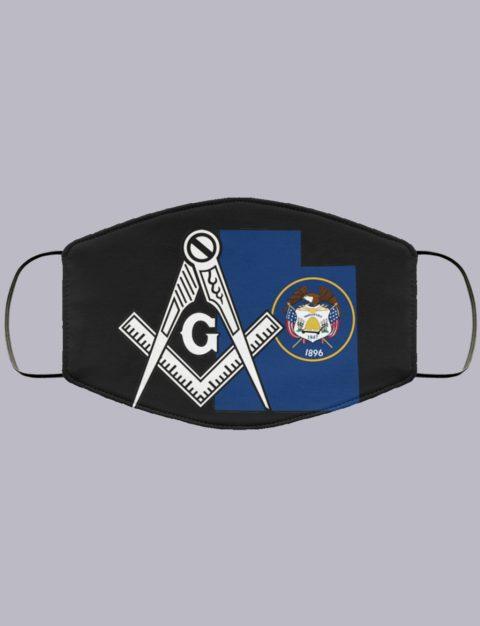 Utah Masonic Face Mask state99996