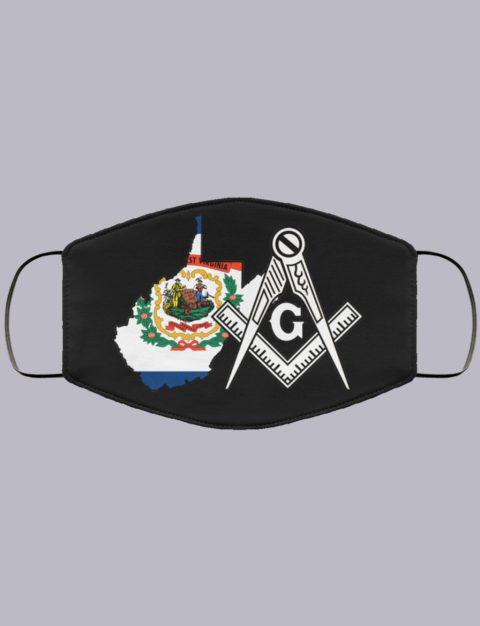West Virginia Masonic Face Mask state99997