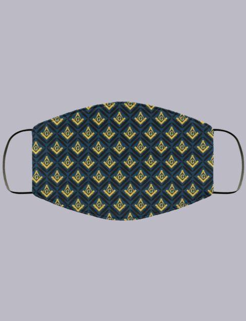 Freemasonry Symbols Masonic Face Mask symbol pattern1