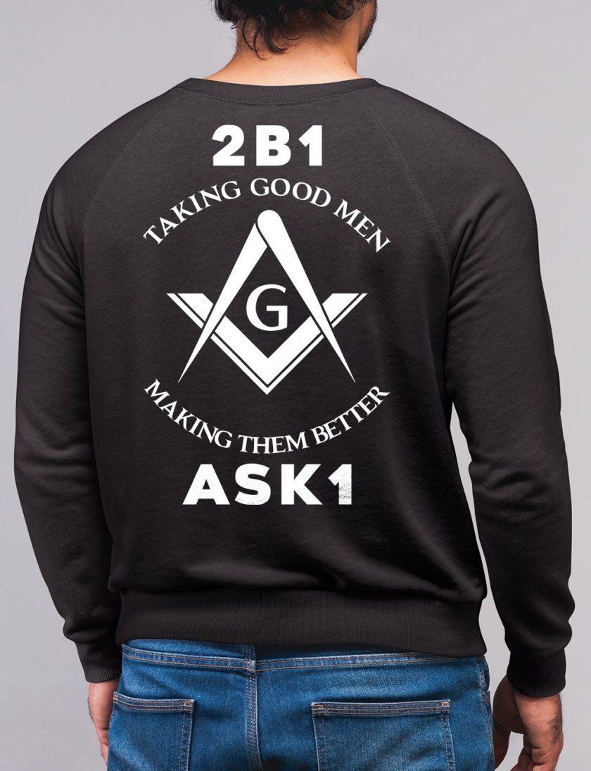 taking good men black sweatshirt