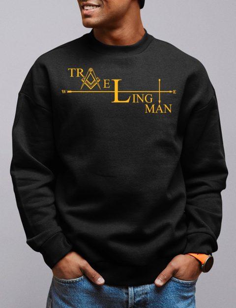 Traveling Man Masonic Sweatshirt traveling man 2 black sweatshirt