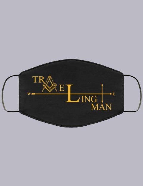 Traveling Man Freemason Masonic Face Mask travelman2