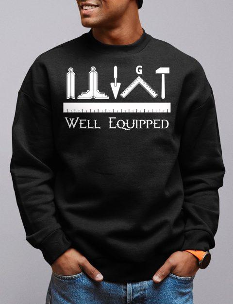 Well Equipped Masonic Sweatshirt well equipped black sweatshirt