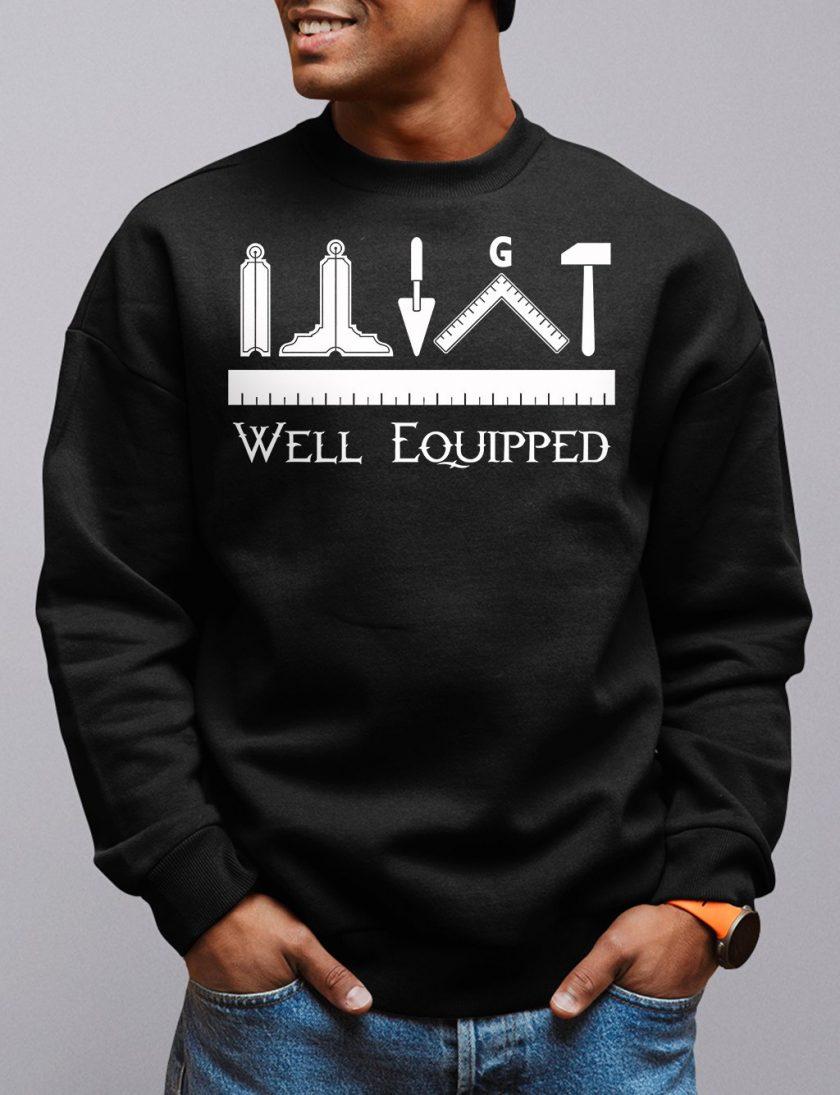 well equipped black sweatshirt
