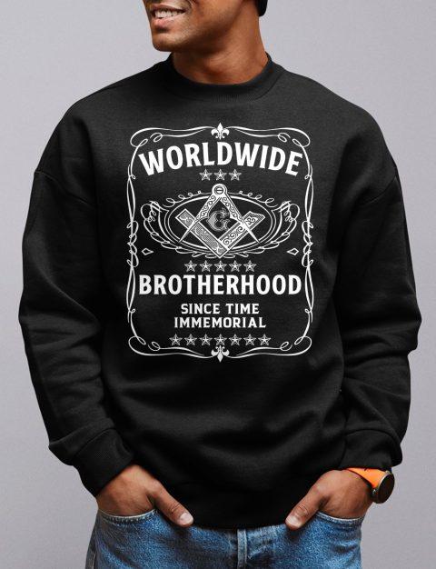 Worldwide Brotherhood Masonic Sweatshirt worldwide black sweatshirt