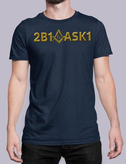 2B1 ASK1 Masonic T-Shirt 2b1ask1 navy shirt