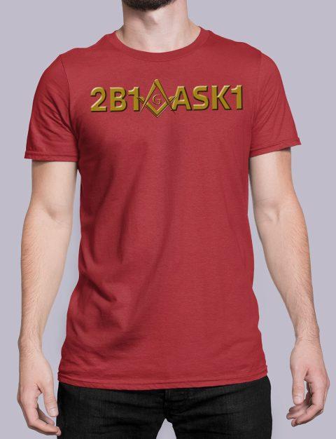 2B1 ASK1 Masonic T-Shirt 2b1ask1 red shirt