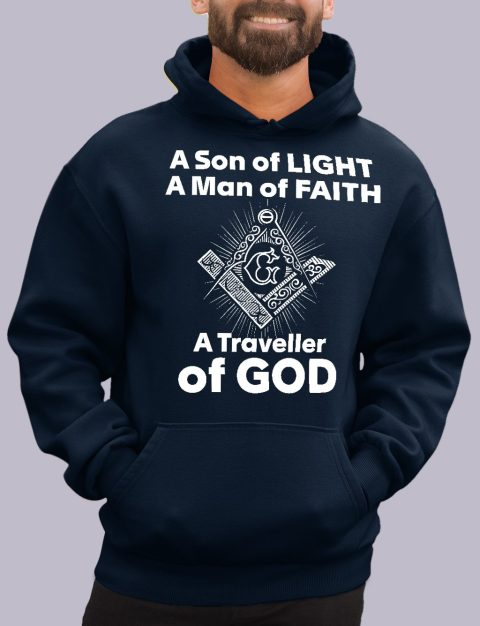 A Son of Light Masonic Hoodie A son of light navy hoodie