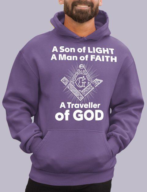 A Son of Light Masonic Hoodie A son of light purple hoodie