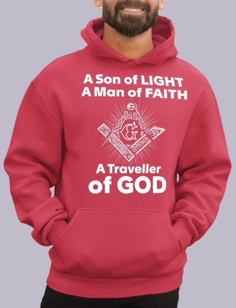 A Son of Light Masonic Hoodie A son of light red hoodie