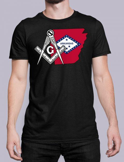 Arkansas Masonic Tee Arkansas black shirt