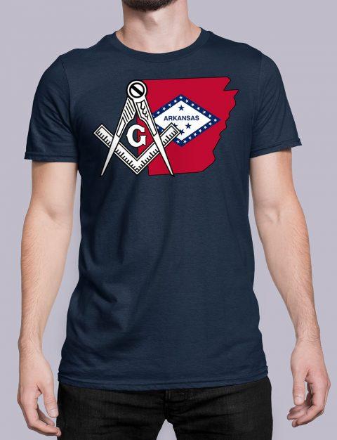 Arkansas Masonic Tee Arkansas navy shirt