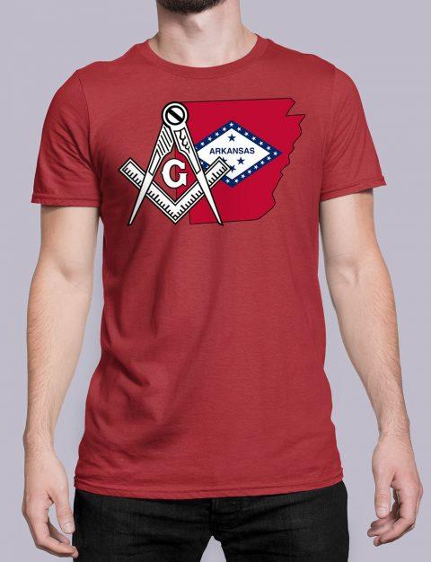 Arkansas Masonic Tee Arkansas red shirt