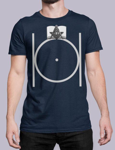 Freemason Masonic T-shirt Black Masonic navy shirt