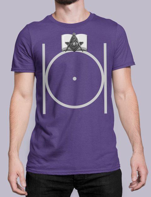 Freemason Masonic T-shirt Black Masonic purple shirt
