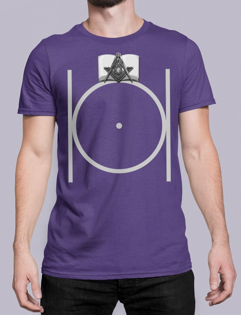 Black Masonic purple shirt