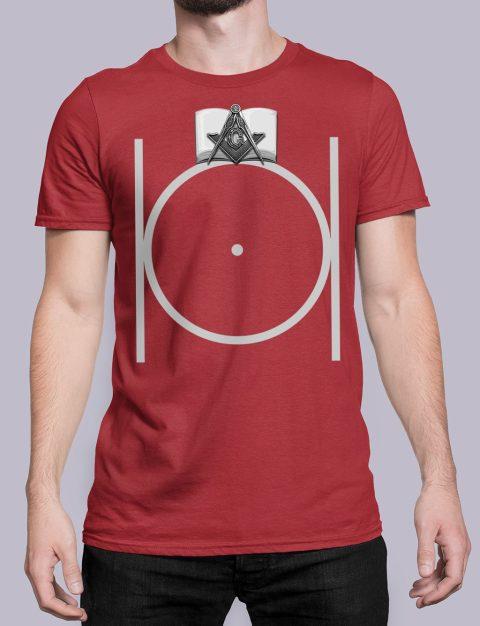 Freemason Masonic T-shirt Black Masonic red shirt