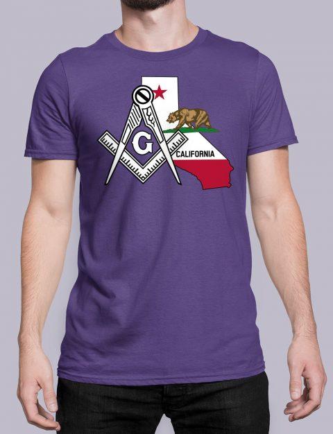 California Masonic Tee California purple shirt