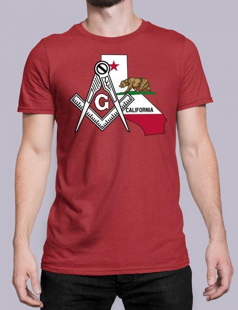 California Masonic Tee California red shirt
