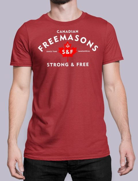 Canadian Freemasons T-shirt Canadian Freemasons red shirt