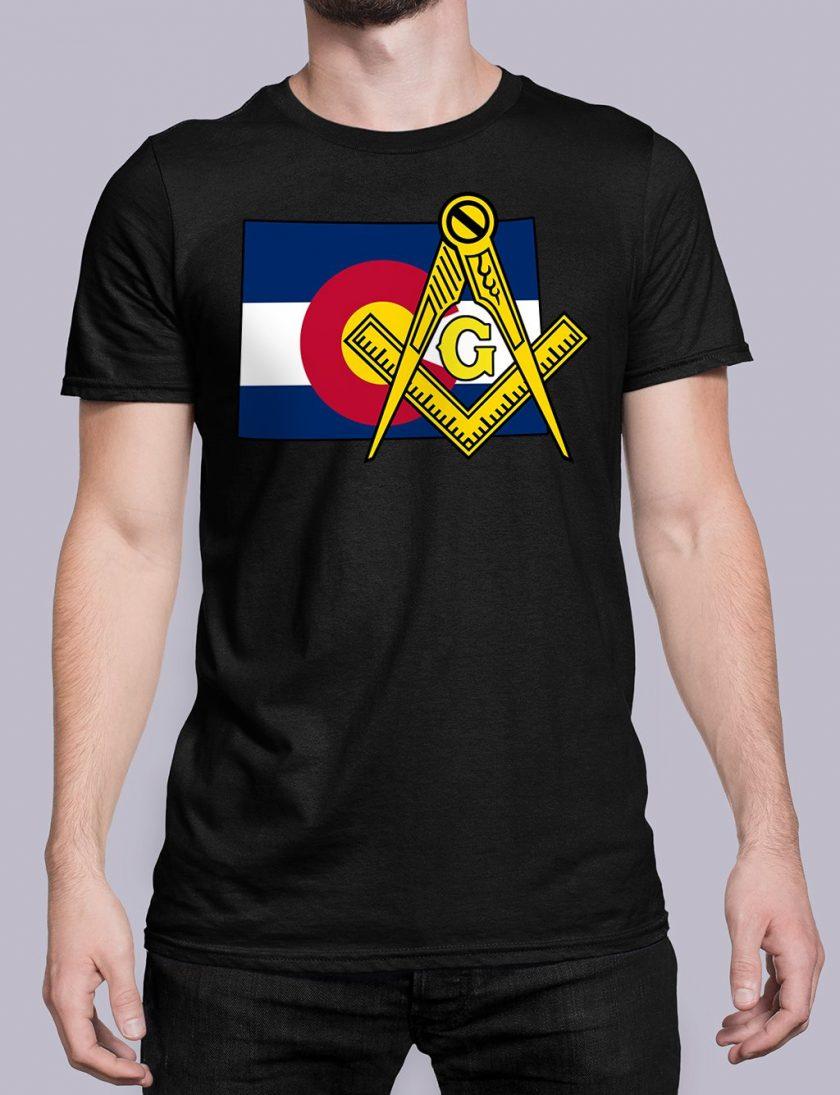 Colorado Masonic Tee Colorado black shirt