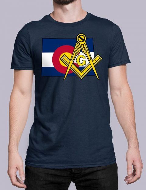 Colorado Masonic Tee Colorado navy shirt