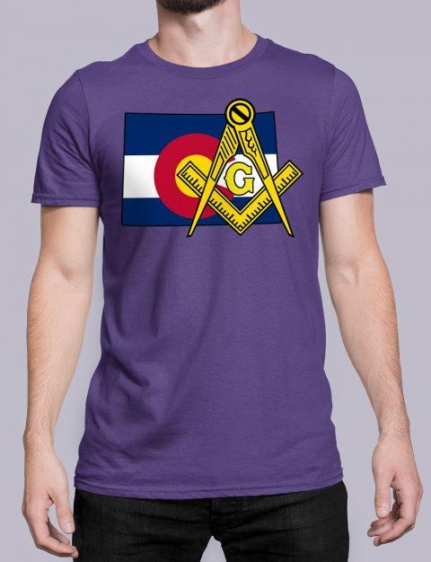 Colorado Masonic Tee Colorado purple shirt