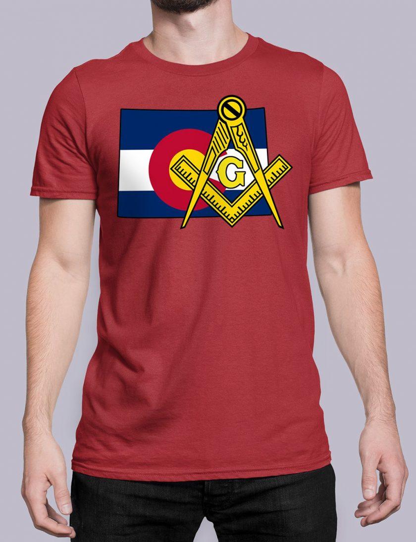 Colorado Masonic Tee Colorado red shirt