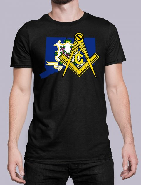 Connecticut Masonic Tee Connecticut black shirt