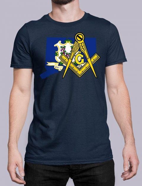 Connecticut Masonic Tee Connecticut navy shirt