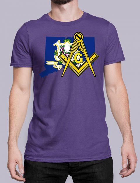 Connecticut Masonic Tee Connecticut purple shirt