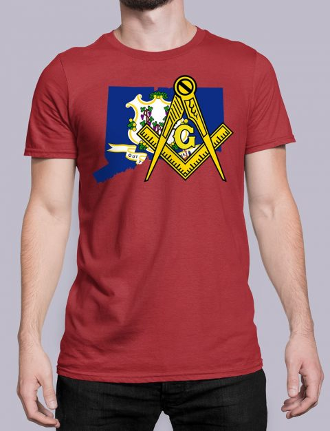 Connecticut Masonic Tee Connecticut red shirt