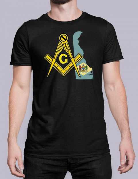Delaware Masonic Tee Delaware black shirt