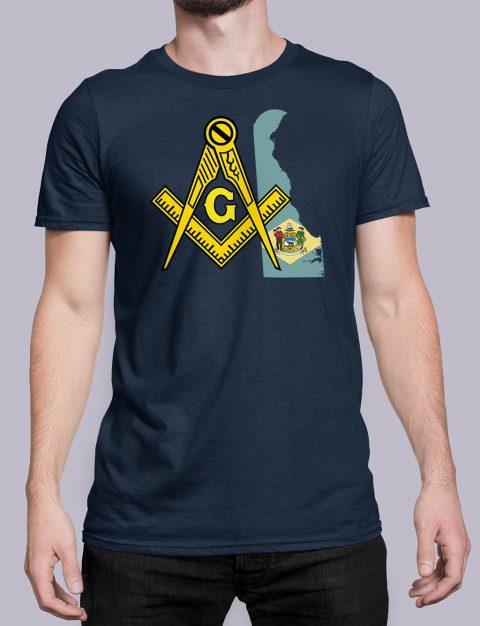 Delaware Masonic Tee Delaware navy shirt
