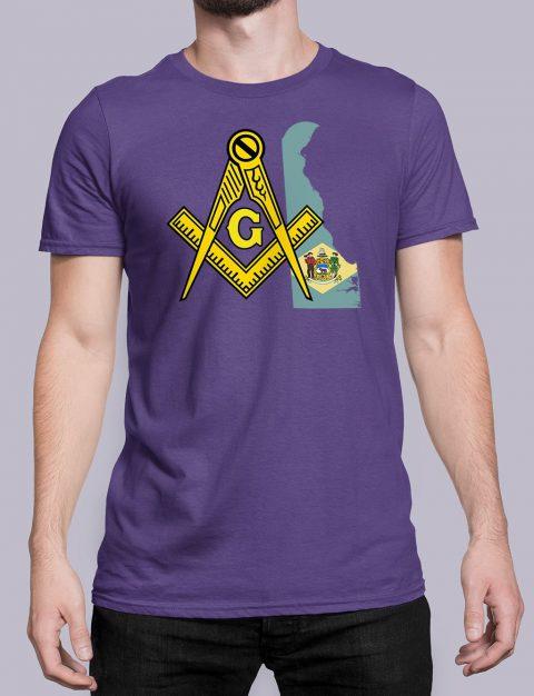 Delaware Masonic Tee Delaware purple shirt