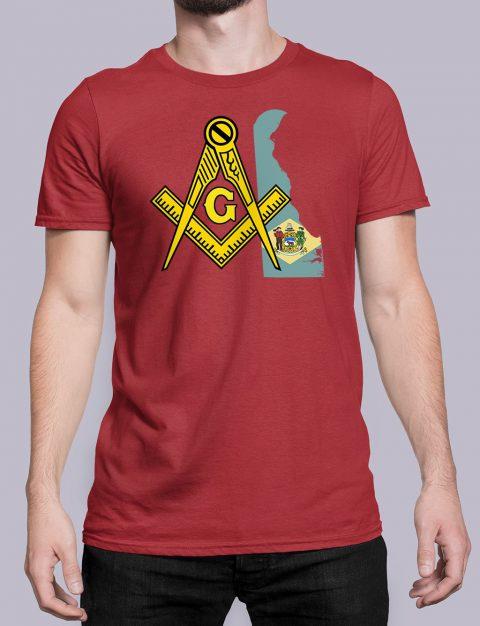 Delaware Masonic Tee Delaware red shirt