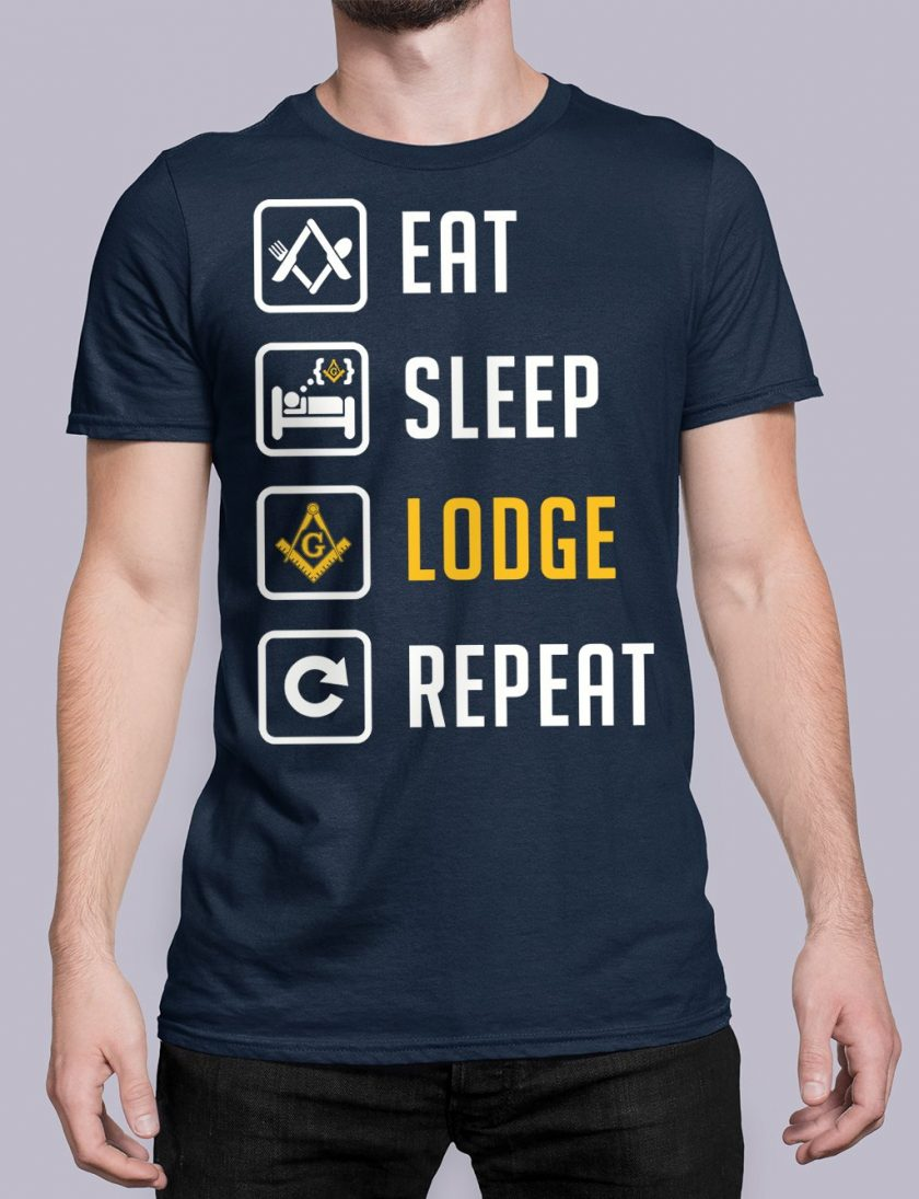 Eat Sleep Lodge Repeat navy shirt 7