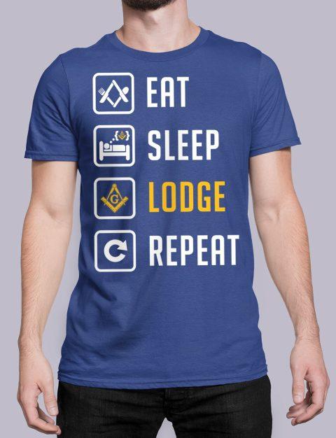 Eat Sleep Lodge Repeat Masonic T-Shirt Eat Sleep Lodge Repeat royal shirt 7