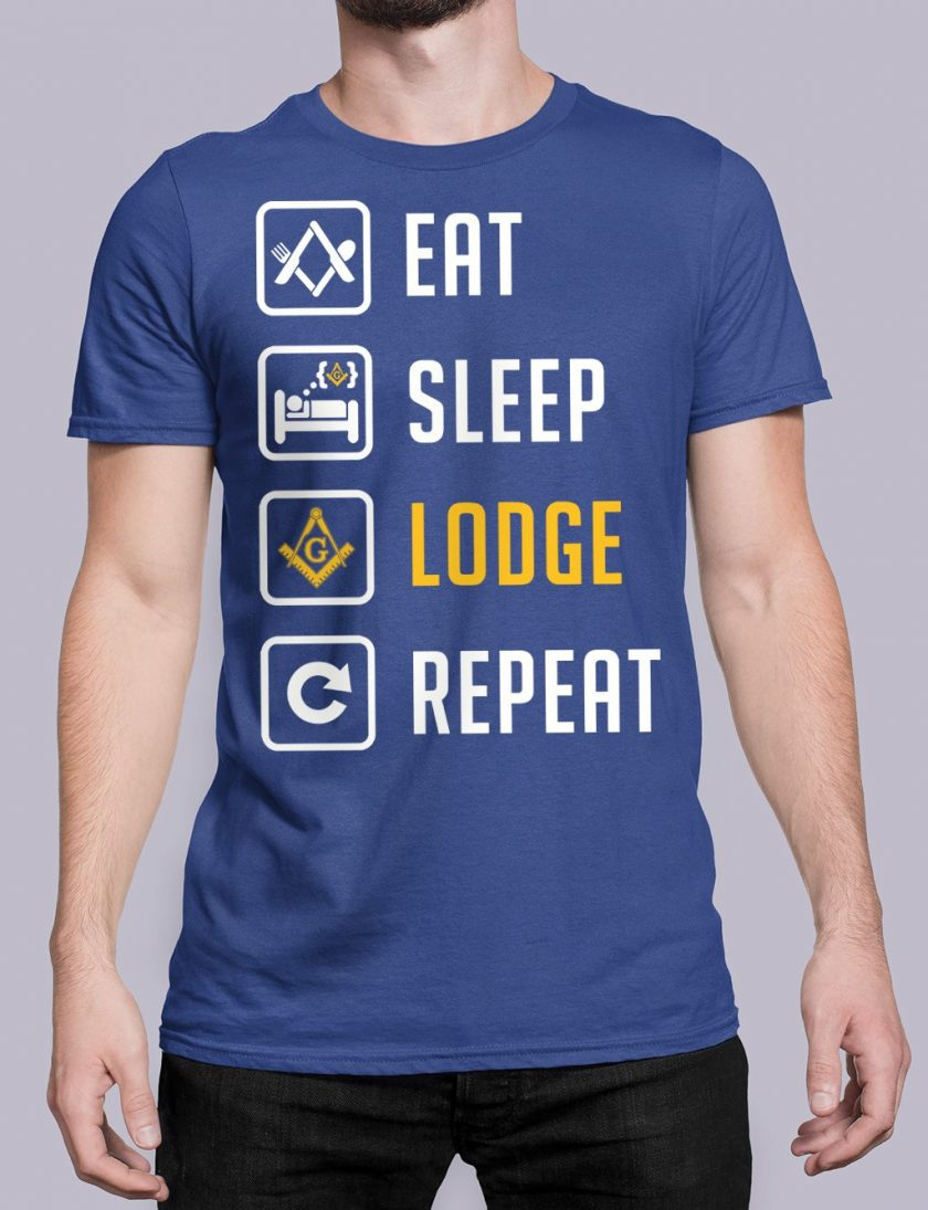 Eat Sleep Lodge Repeat royal shirt 7