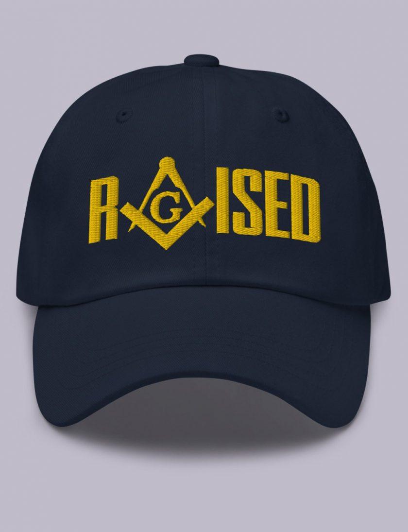 Embroidery Raised masonic hat Navy