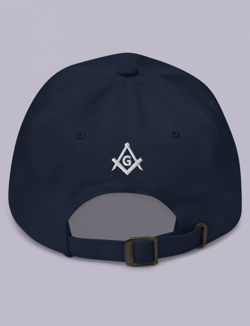 Embroidery Raised masonic hat back navy